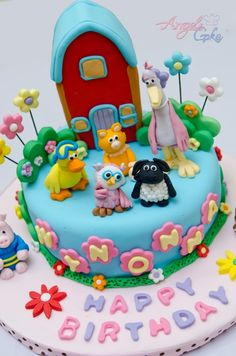 ideas for Cory's birthday this year Girl 2nd Birthday, 2nd Birthday Parties, Birthday Cakes, Birthday Ideas, Beautiful Cakes, Amazing Cakes, Sheep Cake, Timmy Time, Granita