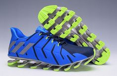 low priced 71f28 b89ee On Feet Mens Adidas Springblade Pro Royal Navy Trainers