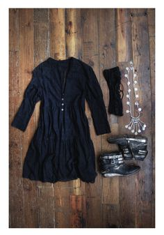 Black Wardrobe, Casual Fall Outfits, Dress With Boots, Get Dressed, Couture Fashion, Passion For Fashion, What To Wear, Style Me, Sheer Dress