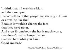 The Perks of Being A Wallflower""