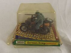 1973 Britains 9681 Germany Army Combination Motorcycle