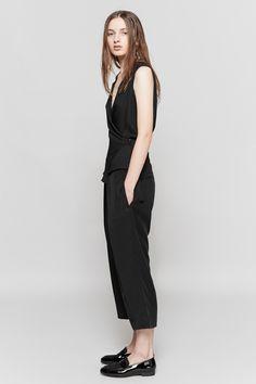 HOPE Wrap V-Neck Blouse & My Trouser | Dieppa Restrepo Penny Loafers | MYCHAMELEON.COM.AU