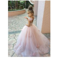 THE ELIZABETH GOWN Flower Girl Dress by IsabellaCoutureShop