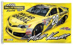 Matt Kenseth NASCAR #20 Dollar General Toyota Camry Huge 3' x 5' Banner Flag - available at www.sportsposterwarehouse.com