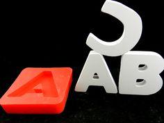 Silikonformen - Silikonform Großbuchstabe A - ein Designerstück von luflom-design bei DaWanda