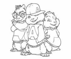 27 meilleures images du tableau coloriage alvin et les chipmunks en 2017 alvin the chipmunks - Colorier alvin ...