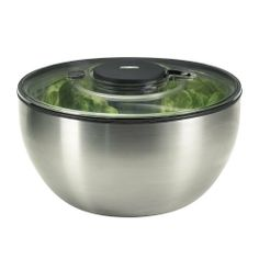 OXO Steel Salad Spinner $42.95 TOTAL PRICE...LOWEST PRICE GUARANTEE...PICK UP OR WE WILL SHIP FREE WORLDWIDE...100% MONEY BACK SATISFACTION GUARANTEED...WEBSITE: www.shopculinart.com