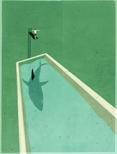 Ha, I was always scared there'd be sharks in the pool!  via FFFFOUND!