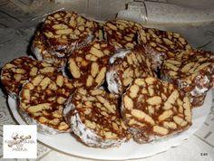 Receptek, és hasznos cikkek oldala: Csokoládés kekszszalámi