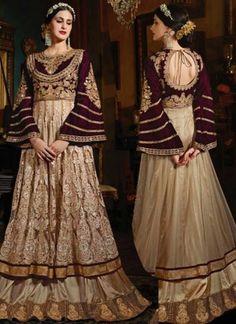 Beige Maroon Embroidery Work Net Velevt Chiffon Designer Wedding Anarkali Suit http://www.angelnx.com/Salwar-Kameez/dark-pink-embroidery-work-georgette-santoon-designer-long-pakistani-palazzo-suit_17907