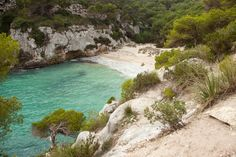 CALA MACARELLETA, MENORCA, SPAIN At the south end of the Spanish island of Menorca, you'll find this white-sand beaches sheltered by hills covered in pine trees and holm oaks. Splashtacular: The world's best places to swim Menorca, World Most Beautiful Place, Beautiful Places, Dream Vacations, Vacation Spots, Oh The Places You'll Go, Places To Visit, Spanish Islands, Amazing Pics
