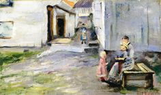 Woman and Children in Arendal.1886 by Edvard Munch