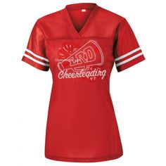 """LRD Cheerleading"" Fitted Next Level Terry Raw Edge 3-4 Sleeve Raglan. ndk2485"