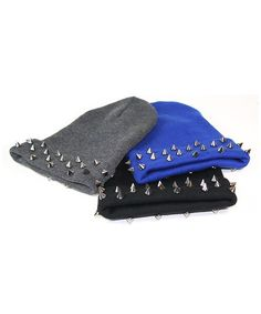Pewter spiked beanies these are kind of cute