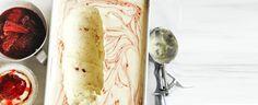 Roasted-Strawbery Semifreddo Ripple recipe, brought to you by MiNDFOOD.