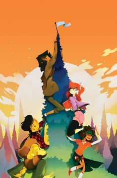 Lumberjanes #2 (second print cover) | Perry Maple
