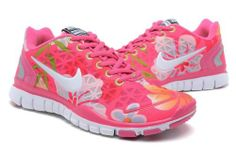 NIKE FREE TR FIT 2 women Running SPORT 5.5-8.5 US PINK Special model Flowery