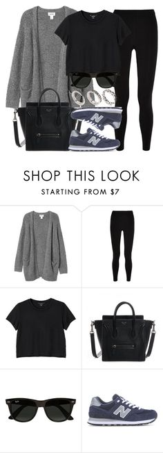 """""""Style #11471"""" by vany-alvarado ❤ liked on Polyvore featuring Monki, T By Alexander Wang, Ray-Ban, New Balance and ASOS"""