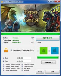 Heroes of camelot hack tool android iOS