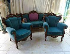 Antique Italian Rococo Carved Walnut Sofa Set in North Hollywood, Los Angeles, CA, USA ~ Krrb