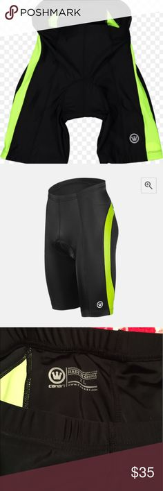🌟Canari Blade Gel Men's Bike Shorts 🌟 🌟Canari Blade Gel Men's Bike Shorts 🌟 Worn once. Husband does not fit into them. Stretchy nylon and spandex fabric for comfort and compression. Low bulk gel shock absorbing cycling chamois. 1 1/2 inch comfort waist band. Bright reflective colors. Soft touch leg grippers. XL Canary Shorts Athletic