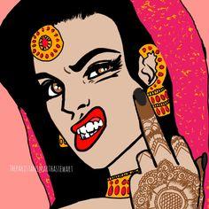 Ideas Pop Art Comic Illustration Behance For 2019 Indian Illustration, Feminist Art, Vintage Comics, Indian Art, Indian Girls, Art Drawings, Drawing Drawing, Drawing Ideas, Magazine Art
