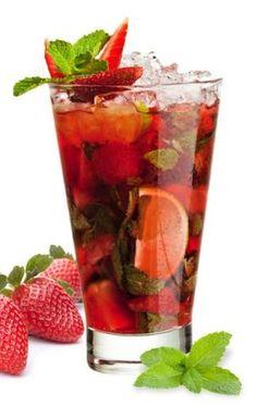 Strawberry Mojito Cocktail #mojito #cocktail #strawberry