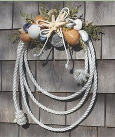 pictures+of+nautical+wreaths | Nautical Rope Shell Wreath