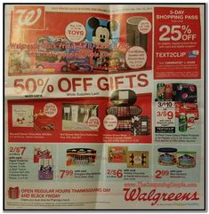 Walgreens Black Friday 2017 Ad Scan, Deals and Sales Walgreens 2017 Black Friday ad is here! Starting on Thanksgiving, stores will open at their usual time for the sale, which will run through Black Frid. Black Friday 2017 Ads, Black Friday Shopping, Walgreens Photo Coupon, Walgreens Coupons, Scott Paper Towels, Digital Coupons, Deal Sale, Online Shopping Deals, Christian Siriano