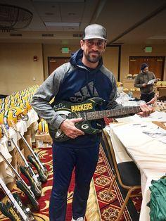Aaron Rodgers guitar hero