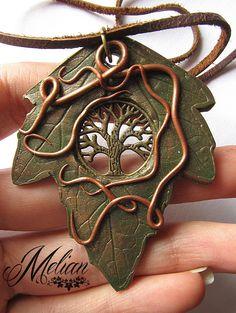 Leaf pendant by Melian-art.deviantart.com on @DeviantArt