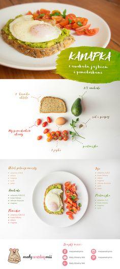 Dieta na płodność - Przepisy! - Kanapka z awokado, jajkiem i pomidorkami Finger Foods, Healthy Recipes, Healthy Food, Gluten Free, Fruit, Breakfast Ideas, Maternity, Studio, Fitness