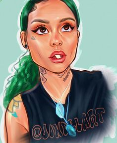 Kehlani fan art by @jondelart