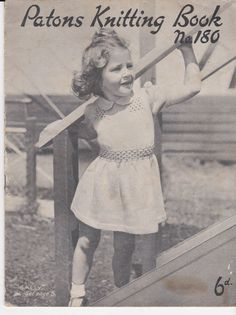 Vintage 1940s  Paton's & Baldwins  Knitting and by jennylouvintage, $15.00