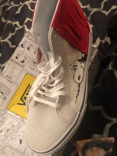 7b19747ee75a7b Vans Kids Youths Children Boys Girls Shoes Slip On The Gang Black Canvas  Peanuts