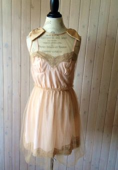Tulle and Lace Slip dress by BohoAngels on Etsy, $60.00