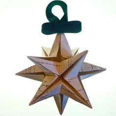 Origami star 12 points  Modular 3D star oragami  by laMarmotaCafe, $10.00