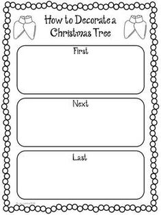 Christmas how-to writing ~Freebie