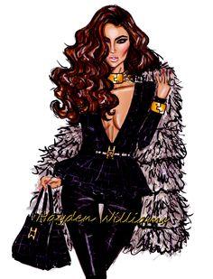 """Jet Set Glamour"" Hayden Williams Fashion Illustrations"