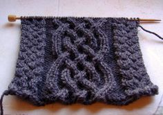 Knitted - Celtic cable scarf - Free pattern. Downloaded and printed