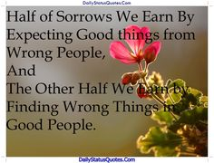Half of Sorrows  Daily Status Quotes