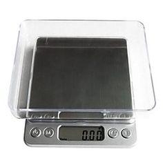 digital lcd elektronisk kjøkken vekt mat skala balance1000g / 0,1 g, plast 12.7x10.6x1.9cm