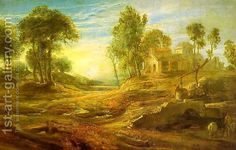 Landscape with a Watering Place by Peter Paul Rubens