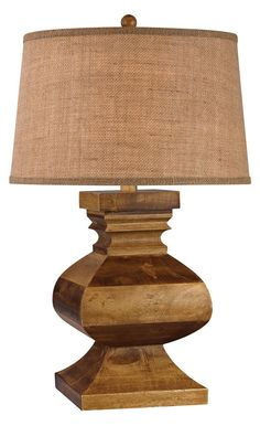 This beautiful Carved Wood Post Lamp by Elk Lighting Group is the perfect choice to brighten your home. Material Wood Finish Dark Russian Oak Weight Height 29 Length 17 Width 17 Bulb Type Bulb Included Yes