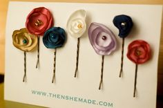 flower pins for girls who have outgrown the big bows in their hair :)