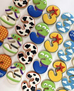 3rd Birthday Toy Story Themed Cookies