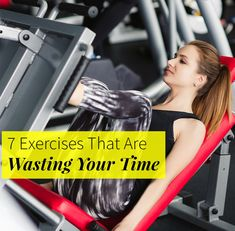 Learn about what exercises and routines in the gym are a waste of your time and what to replace them with. Make the most of your gym sweat session by trading a stationary bike warm-up for a bodyweight warm-up that includes jumping jacks and squats. Next, skip the weight machines and pick up some free weights to effectively work your muscles.