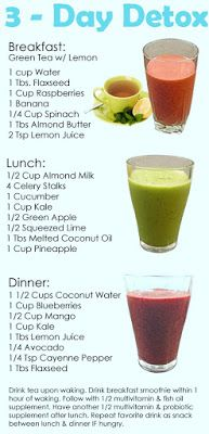 detox diet drink recipes for weight loss,