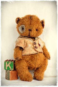 Vintage Style Mohair Teddy Bear by My Primitive Sistas