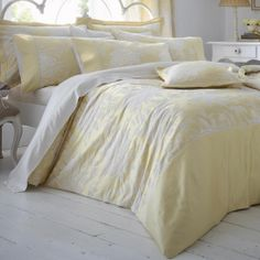 Dorma Lemon Chatsworth Bedlinen Collection | Dunelm